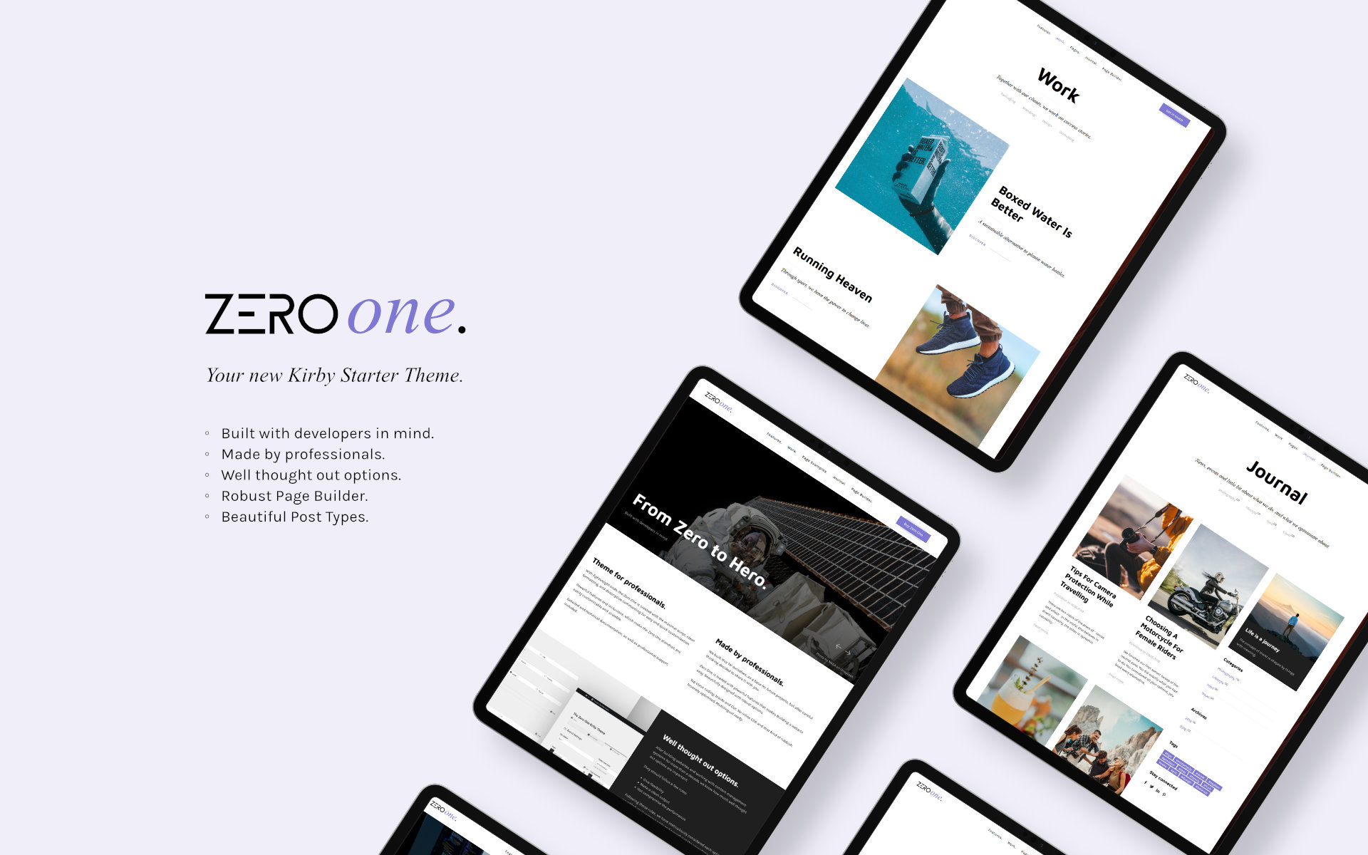 The Zero One theme features